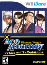 Phoenix Wright Ace Attorney: Trials and Tribulations WiiWare cover (W3GE)