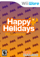 Happy Holidays: Halloween WiiWare cover (W8WE)