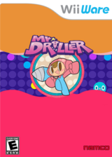 Mr Driller W WiiWare cover (WDRE)
