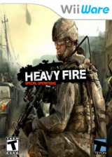 Heavy Fire: Special Operations WiiWare cover (WHFE)