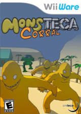 Monsteca Corral: Monsters vs. Robots WiiWare cover (WMCE)