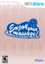 Enjoy your massage! WiiWare cover (WMSE)