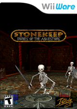 Stonekeep: Bones of the Ancestors WiiWare cover (WSHE)