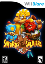 Swords & Soldiers WiiWare cover (WSWE)