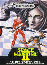 Space Harrier II VC-MD cover (MAIE)