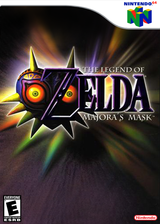 The Legend of Zelda: Majora's Mask VC-N64 cover (NARE)