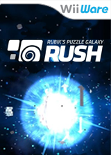 Rubik's Puzzle Galaxy RUSH WiiWare cover (WZIE)