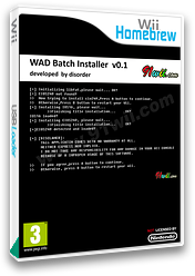 WAD Batch Installer Homebrew cover (D2GA)