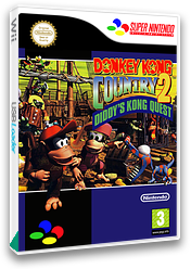 Donkey Kong Country 2: Diddy's Kong-Quest VC-SNES cover (JBDP)