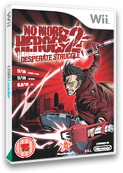 No More Heroes 2: Desperate Struggle Wii cover (RUYP99)
