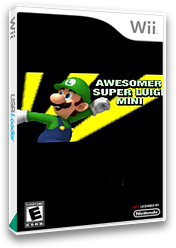 Awesomer Super Luigi Mini CUSTOM cover (SMNP02)