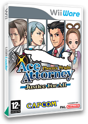 Phoenix Wright: Ace Attorney - Justice for All WiiWare cover (W2GI)