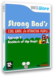 Strong Bad Episode 3: Baddest of the Bands WiiWare cover (WBZP)