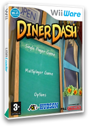 Diner Dash WiiWare cover (WDDP)