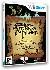 Tales of Monkey Island Chapter 1: Launch of the Screaming Narwhal WiiWare cover (WILP)