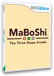 MaBoShi: The Three Shape Arcade WiiWare cover (WMBP)