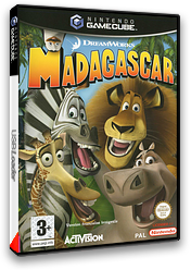 Madagascar pochette GameCube (GGZX52)
