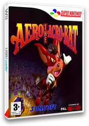 Aero The Acrobat pochette VC-SNES (JDWP)