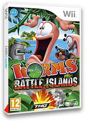 Worms Battle Islands pochette Wii (SILP78)