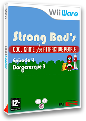 Strong Bad Episode 4 : Dangeresque 3 pochette WiiWare (WB2P)