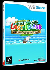 Les aventures de l'ile perdue jeu d'objets cachés pochette WiiWare (WKWP)
