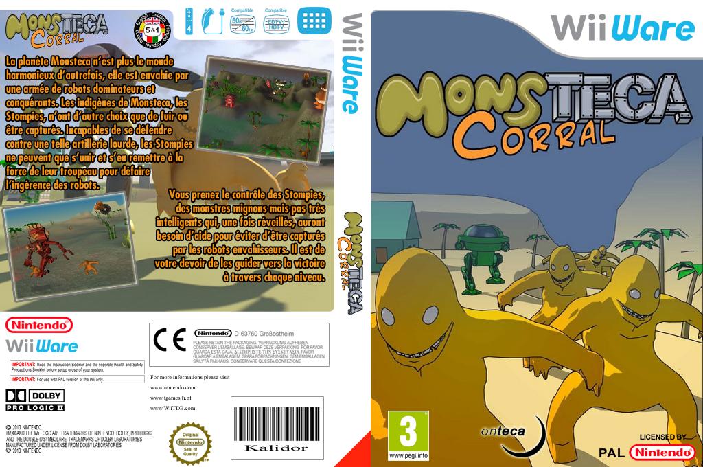 Monsteca Corral: Monsters Vs. Robots pochette WiiWare (WMCP)