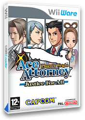 Phoenix Wright: Ace Attorney 2 - Justice for All WiiWare cover (W2GI)