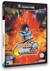 Capcom Vs. SNK2 EO: Millionaire Fighting 2001 GameCube cover (GEOP08)
