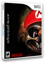 Mario Kart Wii Black CUSTOM cover (CKBE88)