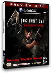 Resident Evil 4: Preview Disc GameCube cover (D4BE08)