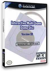 Interactive Multi-Game Demo Disc - Version 32 GameCube cover (D59E01)