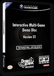 Interactive Multi-Game Demo Disc - Version 22 GameCube cover (D73E01)