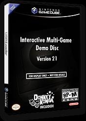 Interactive Multi-Game Demo Disc - Version 21 GameCube cover (D74E01)