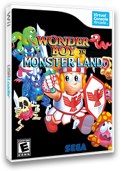Wonder Boy in Monster Land VC-Arcade cover (E5WE)