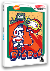 Dig Dug VC-NES cover (FEDN)