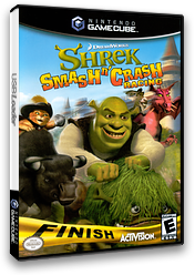 Shrek Smash n' Crash Racing GameCube cover (G4IE52)