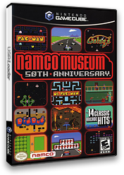 Namco Museum 50th Anniversary GameCube cover (G5NEAF)