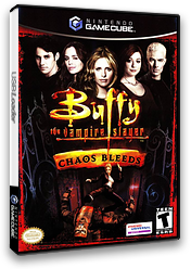 Buffy the Vampire Slayer: Chaos Bleeds GameCube cover (GCQE7D)