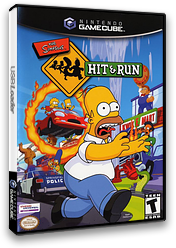 The Simpsons: Hit & Run GameCube cover (GHQE7D)