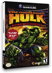 The Incredible Hulk: Ultimate Destruction GameCube cover (GHUE7D)