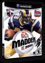 Madden NFL 2003 GameCube cover (GM3E69)