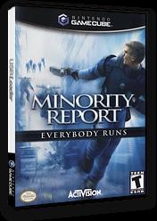 Minority Report: Everybody Runs GameCube cover (GMWE52)