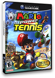 Mario Power Tennis GameCube cover (GOME01)