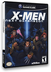 X-Men: Next Dimension GameCube cover (GXME52)