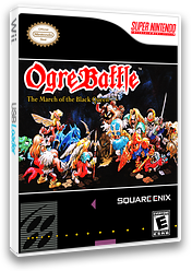 Ogre Battle: The March of the Black Queen VC-SNES cover (JCTE)