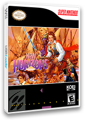 Uncharted Waters: New Horizons VC-SNES cover (JCYE)