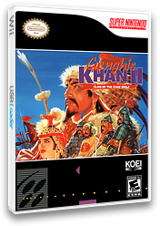 Genghis Khan II: Clan of the Gray Wolf VC-SNES cover (JCZE)