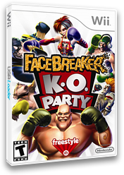 FaceBreaker K.O. Party Wii cover (RFQE69)
