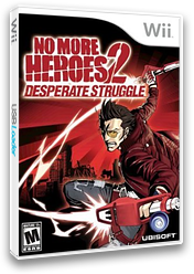 No More Heroes 2: Desperate Struggle Wii cover (RUYE41)