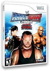WWE SmackDown vs. Raw 2008 Wii cover (RWWE78)
